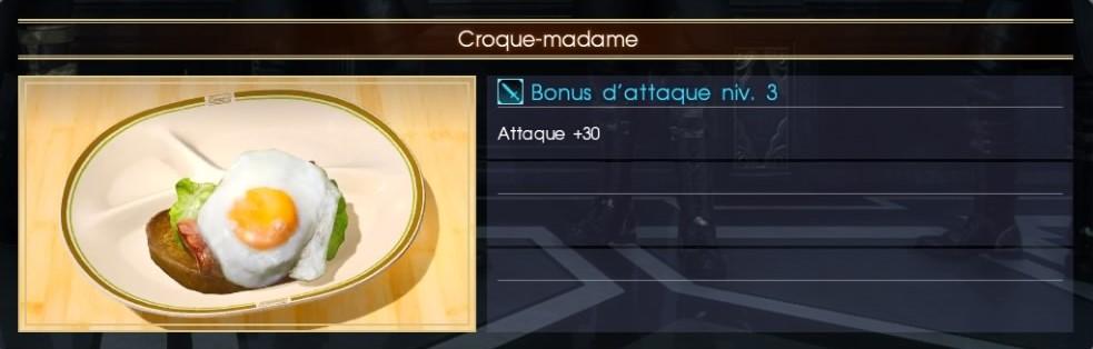 Final Fantasy XV croque-madame