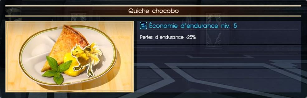 Final Fantasy XV quiche chocobo