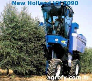 Cosechadora olivar superintensivo, New Holland VX 7090, vendimiadora olivos
