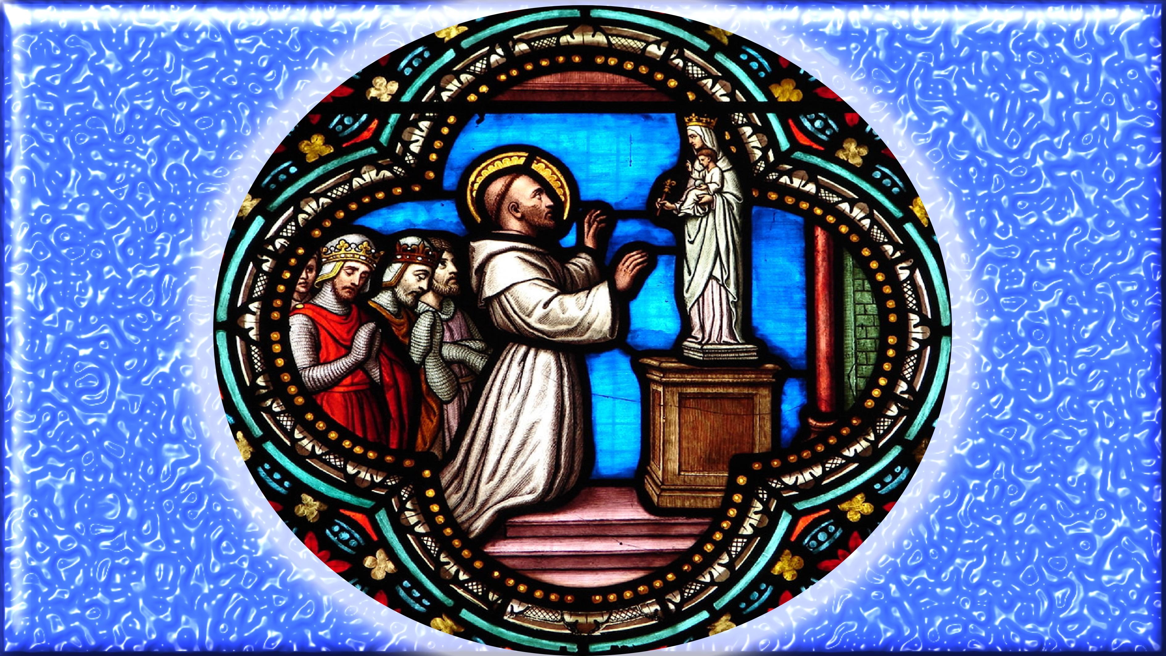 CALENDRIER CATHOLIQUE 2019 (Cantiques, Prières & Images) - Page 6 St-bernard-567bd22