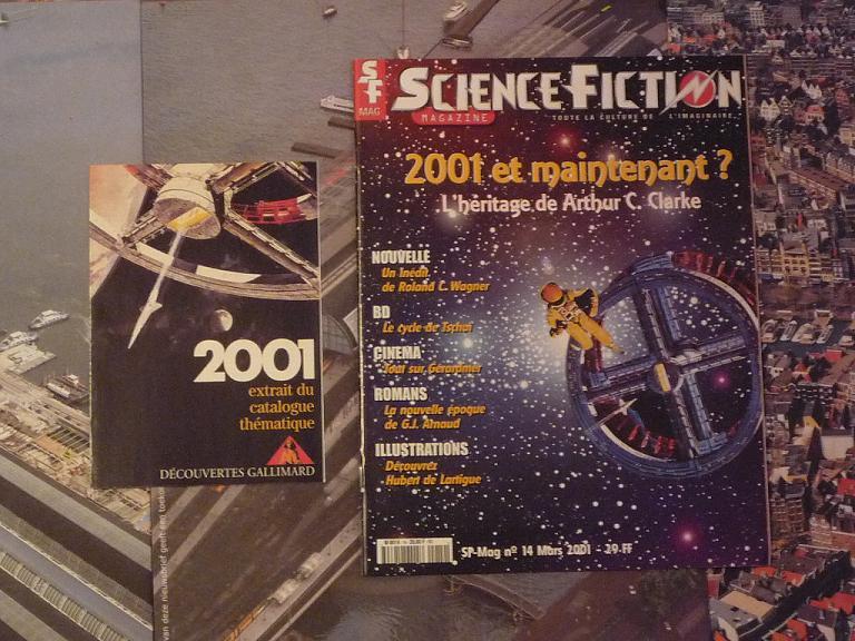 quelques livres sur 2001 odyssée de l'espace Ti12--p1230304-4974143