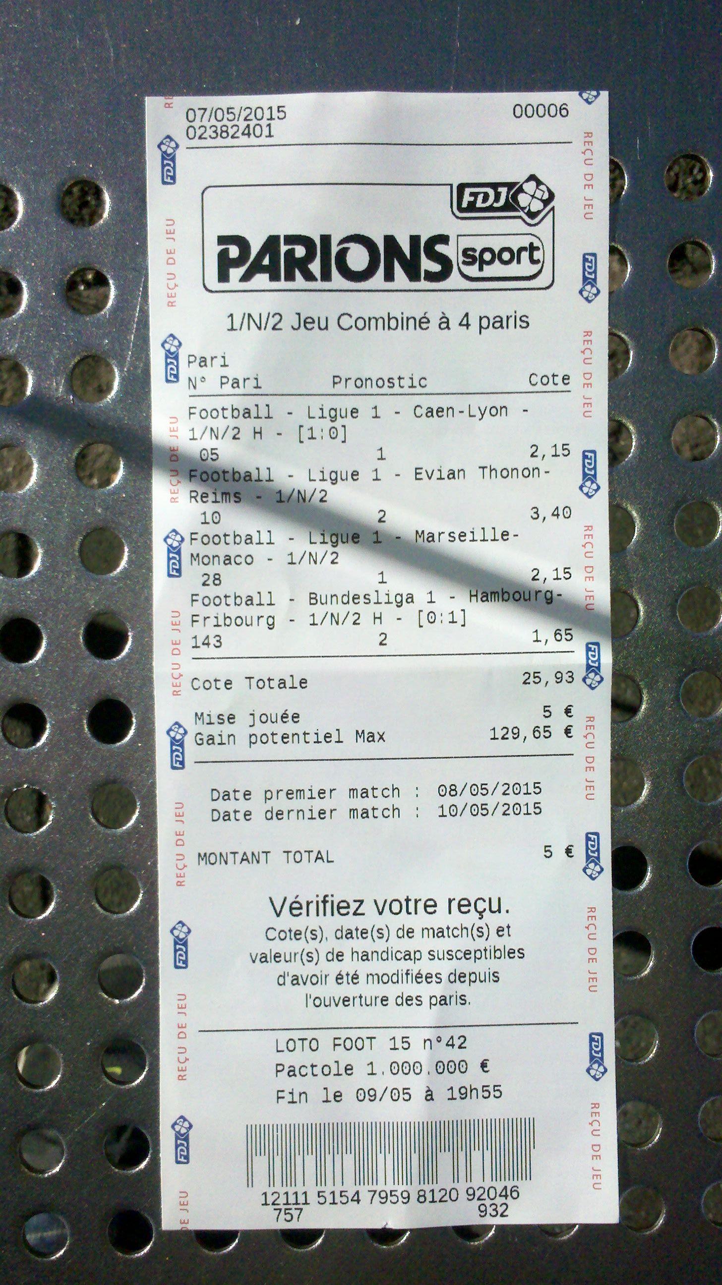 Quint de tof du vendredi 8 mai chantilly prix de la chartreuse - Grille des matchs parions sport ...