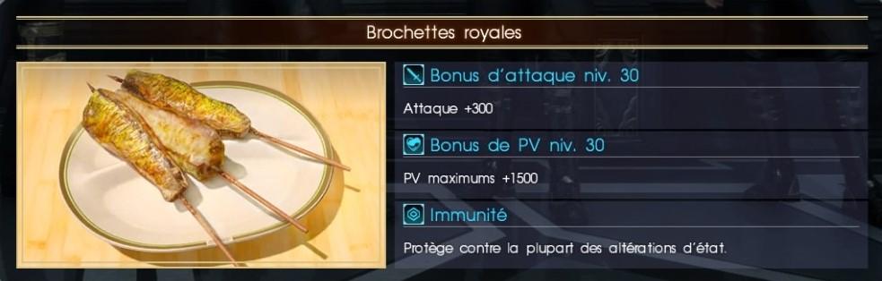 Final Fantasy XV brochettes royales