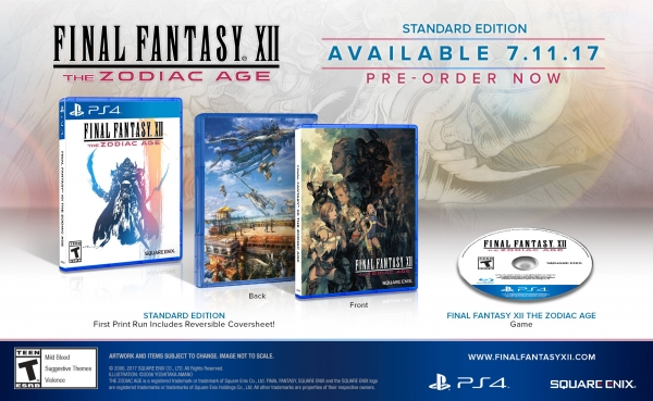Final Fantasy XII The Zodiac Age jaquette reversible