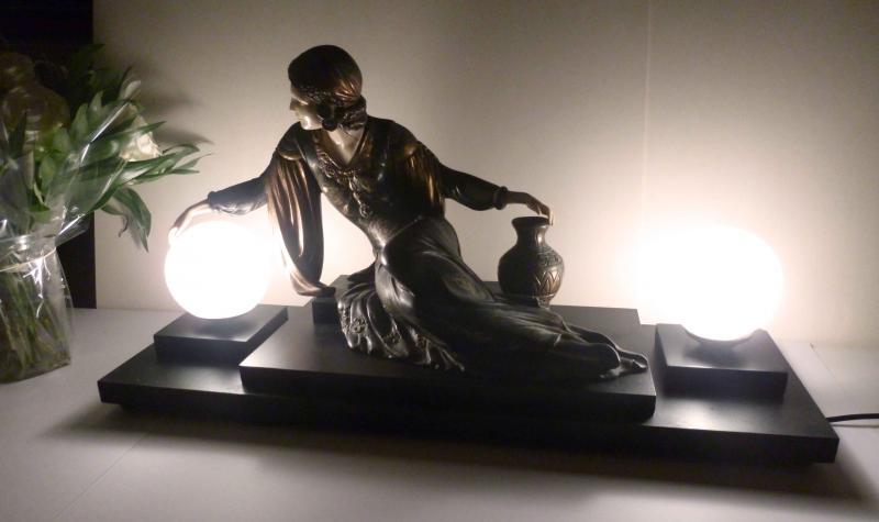 grande le statue chryselephantine menneville deco femme orientale ebay