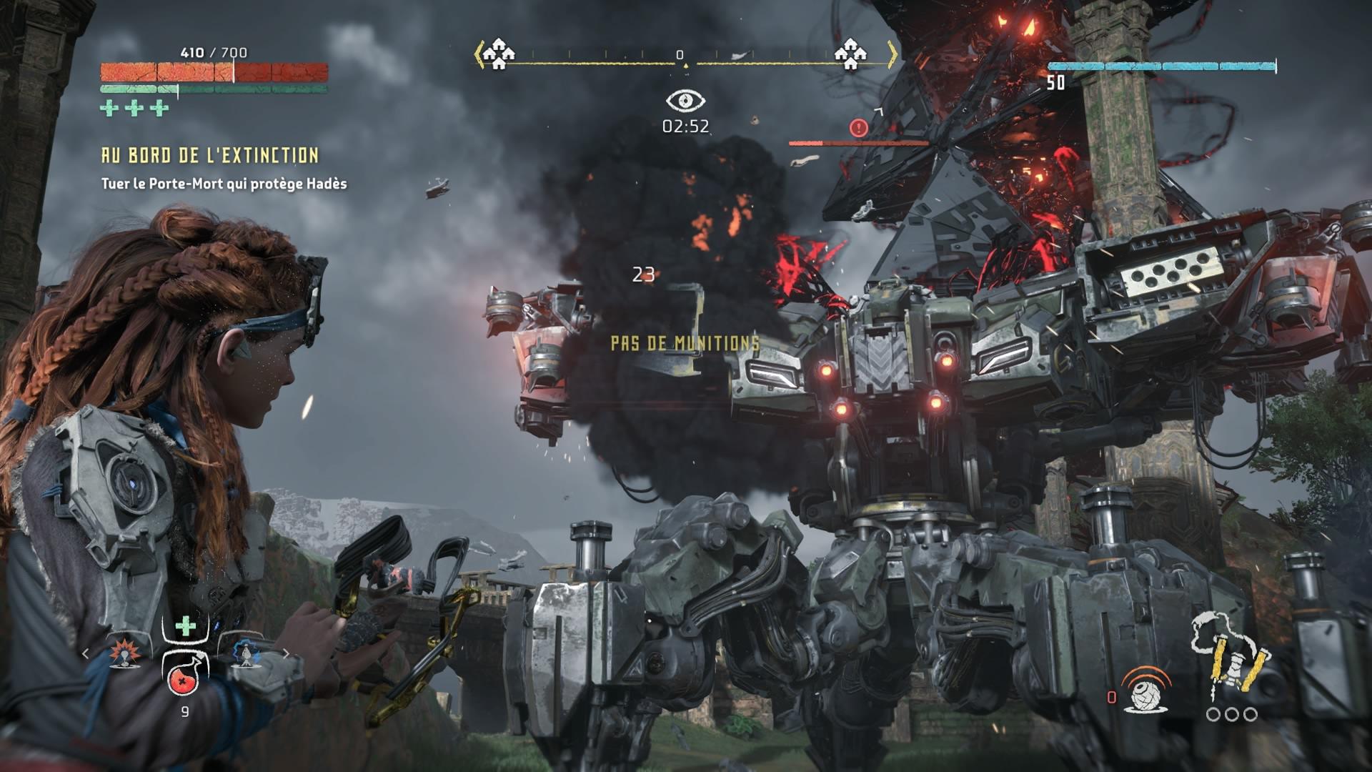 Horizon Zero Dawn menace des machines de guerres éliminée