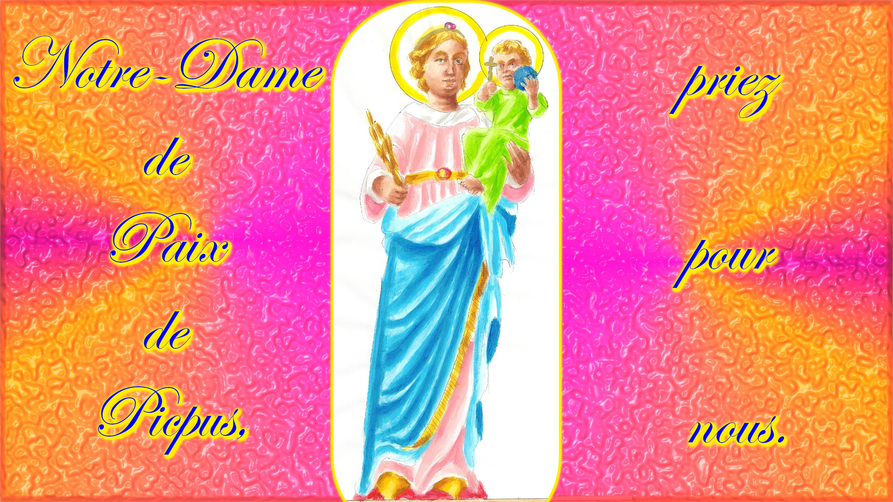 CALENDRIER CATHOLIQUE 2019 (Cantiques, Prières & Images) - Page 2 Notre-dame-de-paix-de-picpus-565bd29