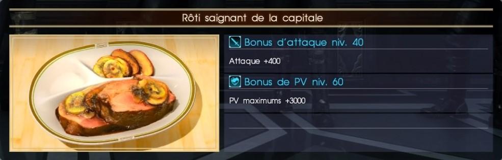 Final Fantasy XV rôti saignant de la capitale