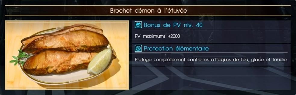 Final Fantasy XV brochet démon à l'étuvée