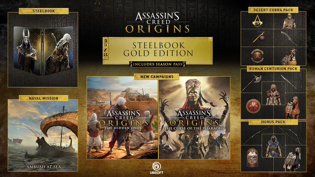 Assassin's Creed Origins Gold Edition Steelbook