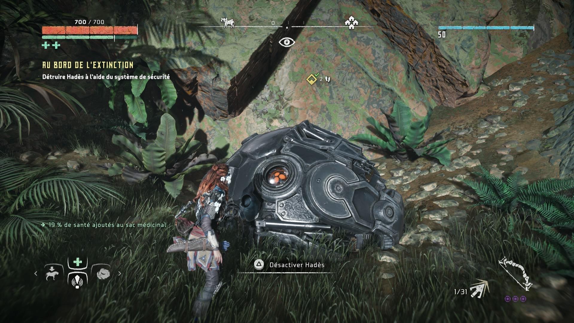 Horizon Zero Dawn menace des machines de guerre éliminée