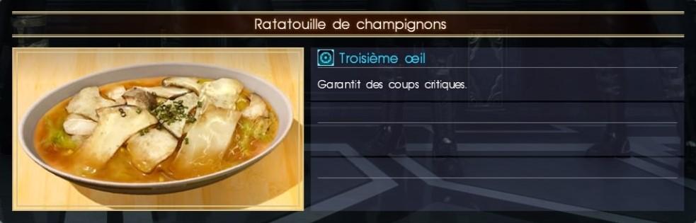 Final Fantasy XV ratatouille de champignons