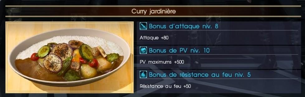 Final Fantasy XV curry jardinière