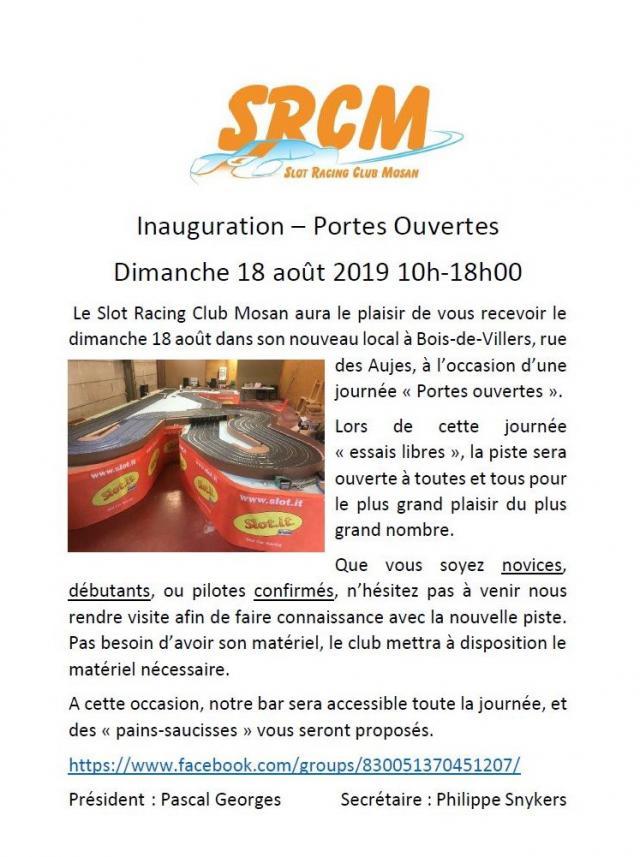 Affiche inauguration SRCM-ASBL du dimanche 18 août. Srcm-courrier-5671dcc