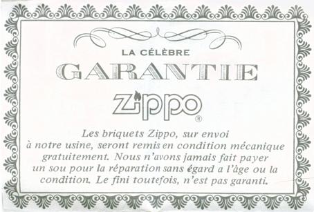 [Datation] Les Zippo Canada (Niagara Falls, Ontario) La-garantie-zippo-5236fd3