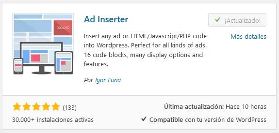 Manejar publicidad en Wordpress