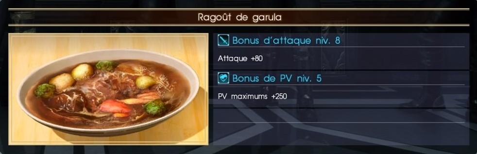 Final Fantasy XV ragoût de ragula