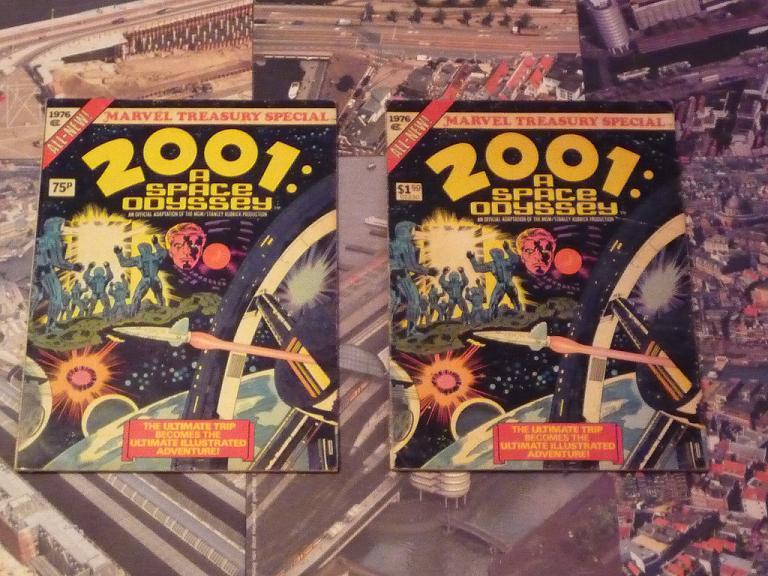 quelques livres sur 2001 odyssée de l'espace Ti53-p1230035-497437c