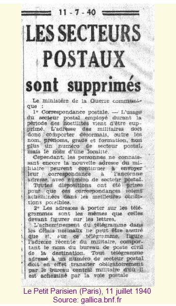 Histoire de la Poste aux armées depuis ses origines. Pp2-52f5a80