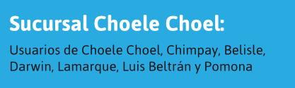 Usuarios de Choele Choel y alrededores