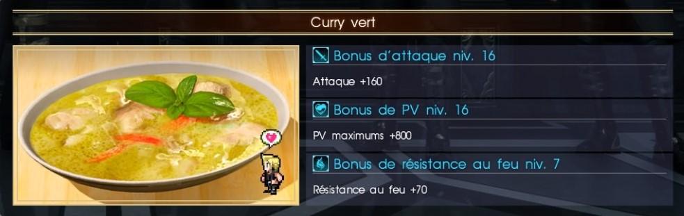Final Fantasy XV curry vert