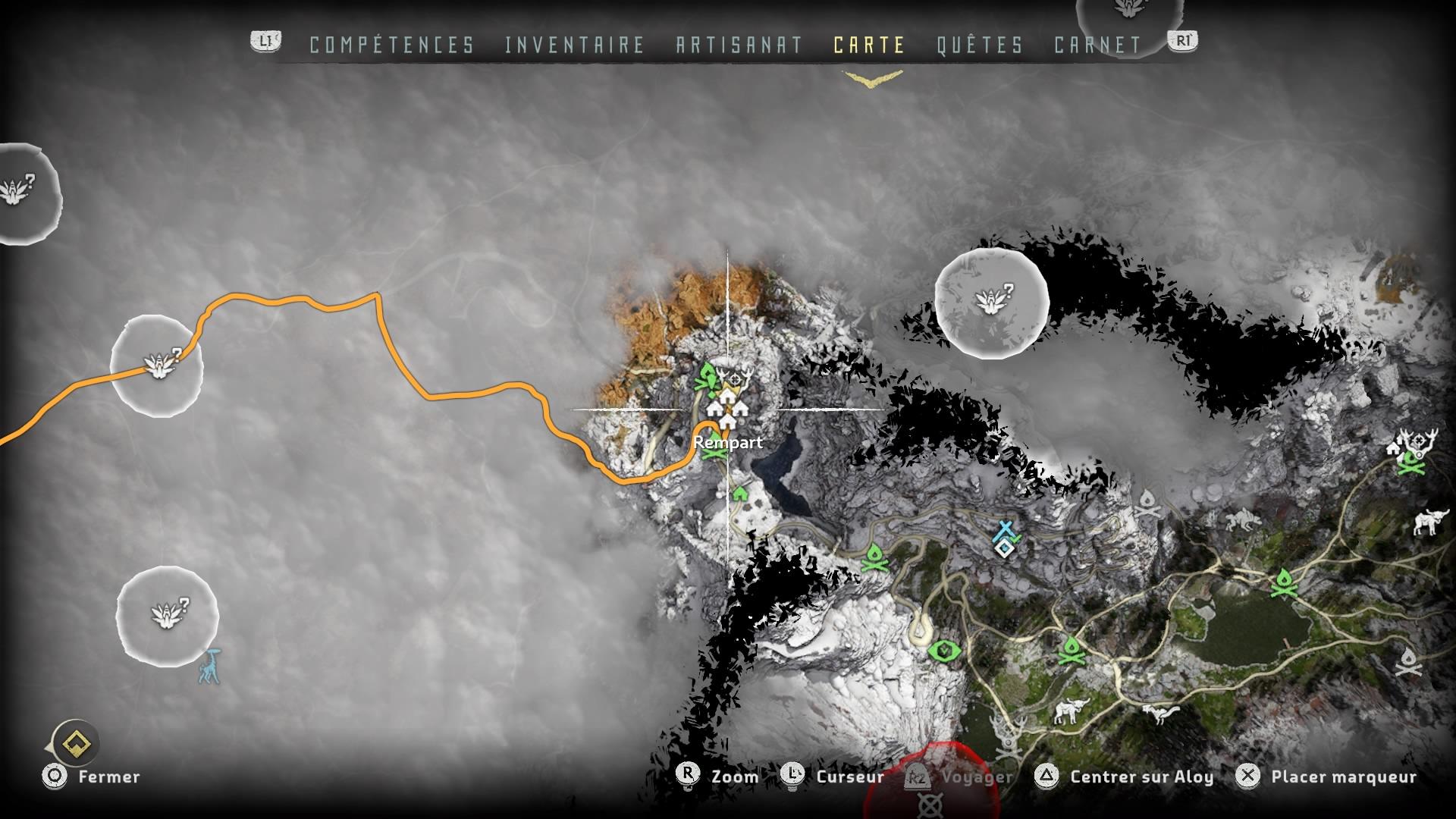 Horizon Zero Dawn déplacements rapides illimités