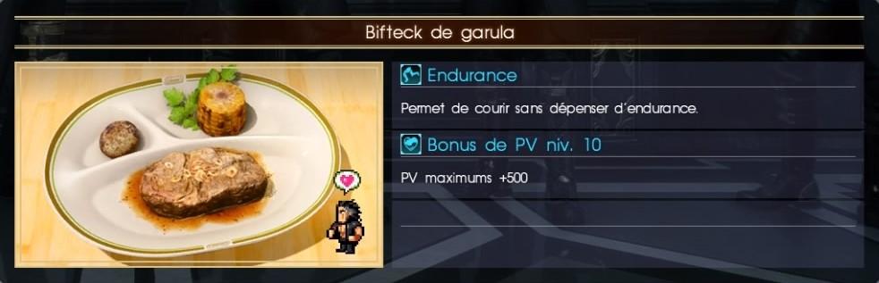 Final Fantasy XV bifteck de garula