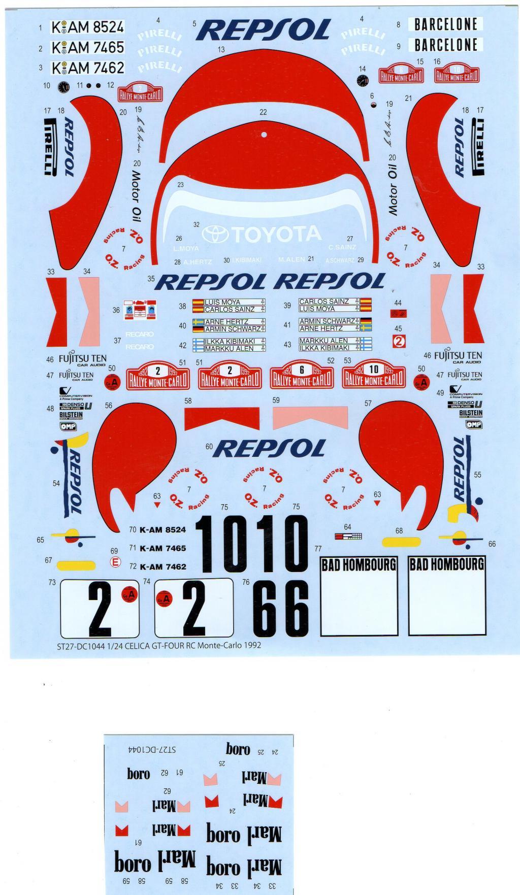toyota celica Rallye El Corte Inglés 1993     Celica-respol-49755f3