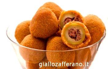 olive all Ascolana, aceitunas fritas rellenas