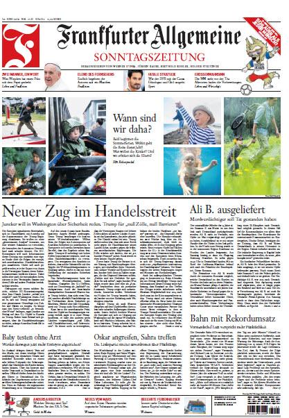 Frankfurter Allgemeine Sonntags Zeitung 10 Jun 2018