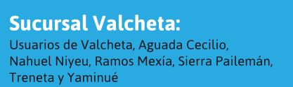 Usuarios de Valcheta