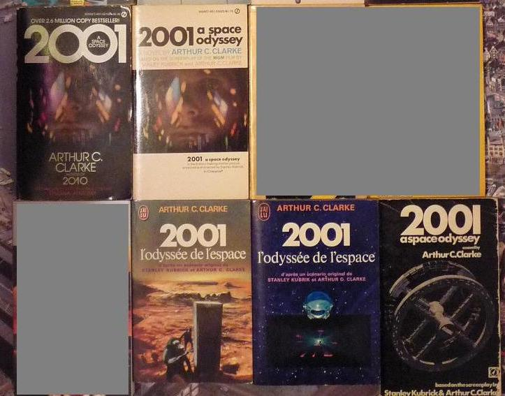quelques livres sur 2001 odyssée de l'espace Ti13-03-p1050760-4974163