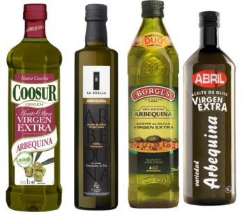 Aceite de oliva Arbequina (Coosur, Borges, Abril...)