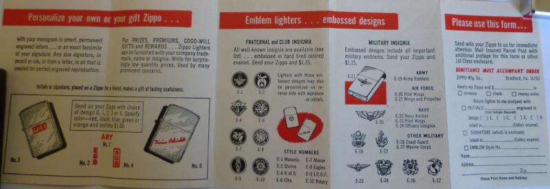 Les boites Zippo au fil du temps Zippo-1966---slim-ribbon-4--52ed256