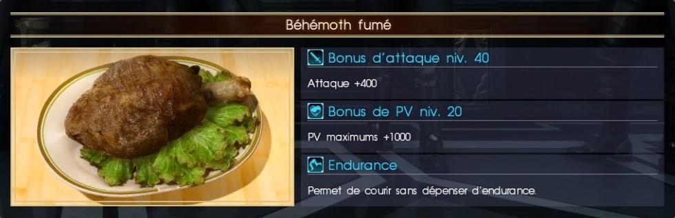 Final Fantasy XV béhémoth fumé