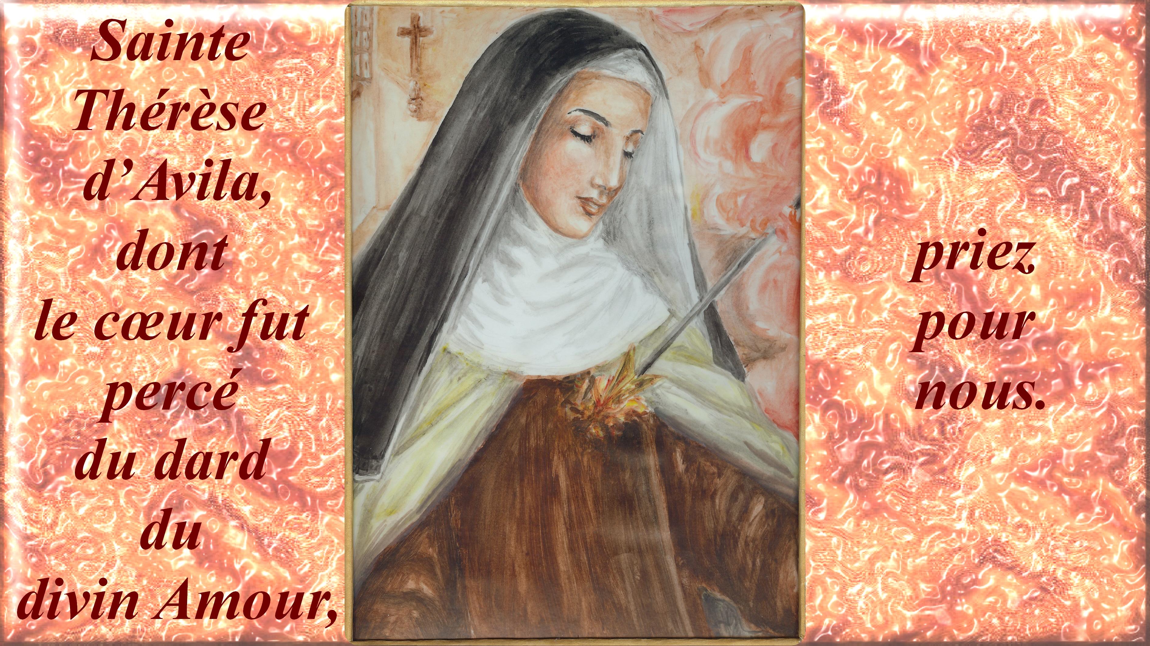 CALENDRIER CATHOLIQUE 2019 (Cantiques, Prières & Images) - Page 7 La-transverb-rati...-d-avila-5681285