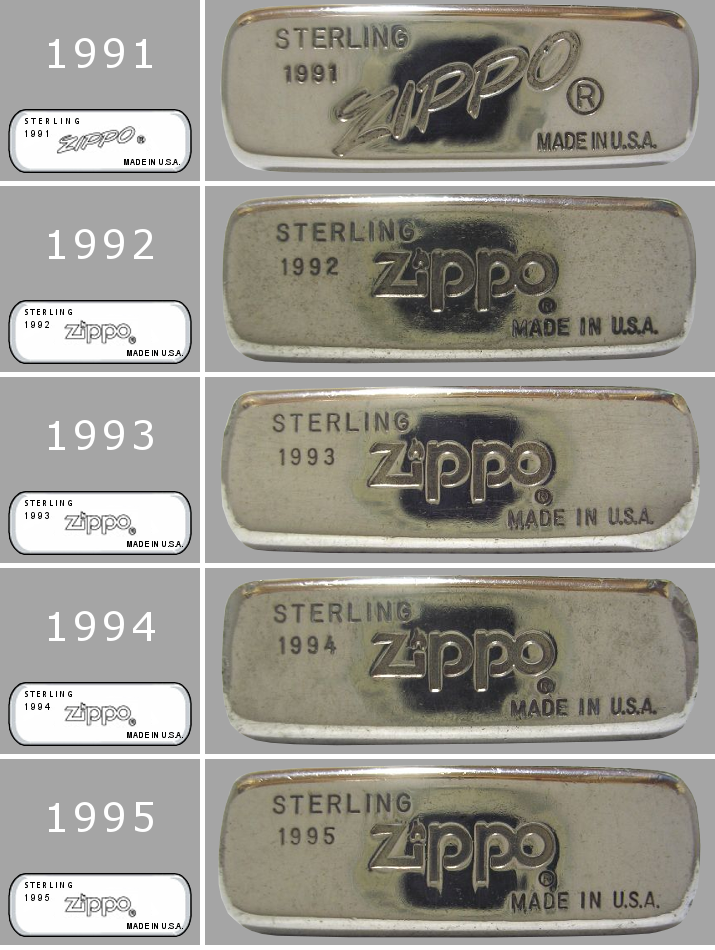[Datation] Les Zippo Sterling Silver 1991-1995-523d002