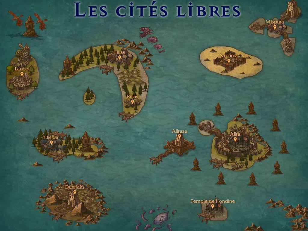 Les cités libres, généralités Maps-56155a3