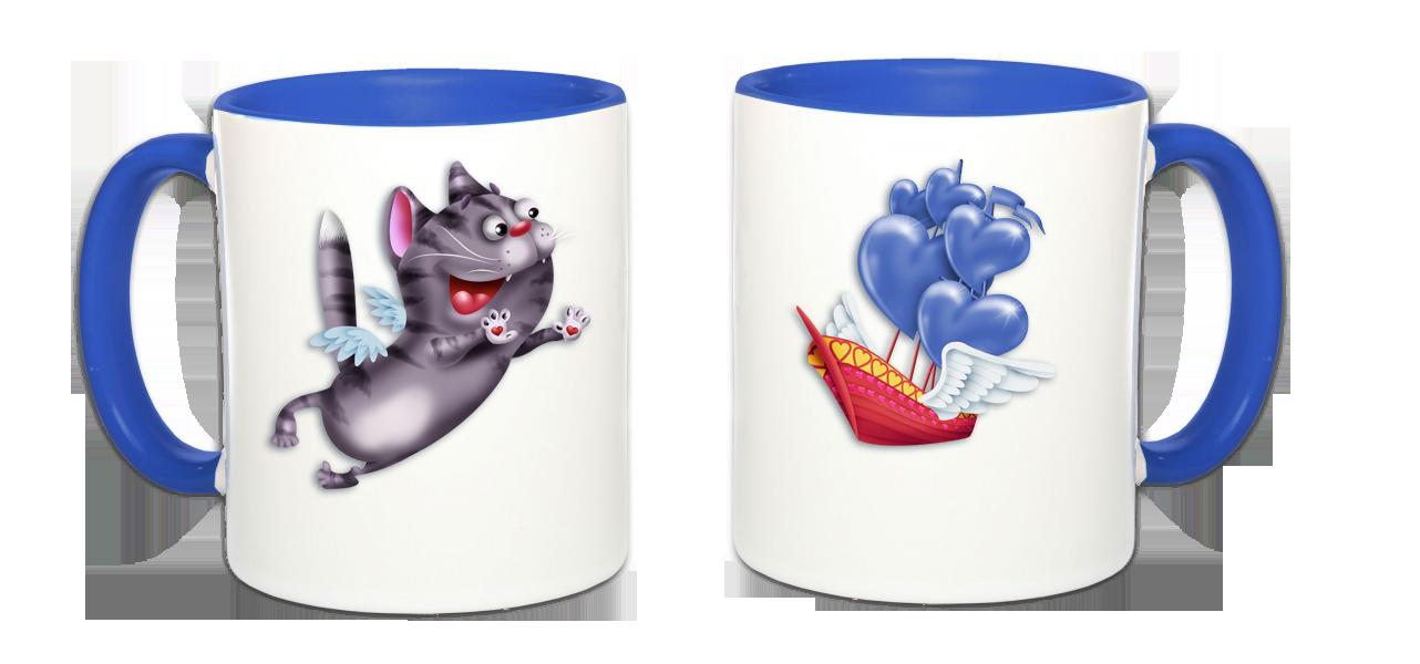 Mug Amoureux Duo-chat-valentin-bleu-518d37e