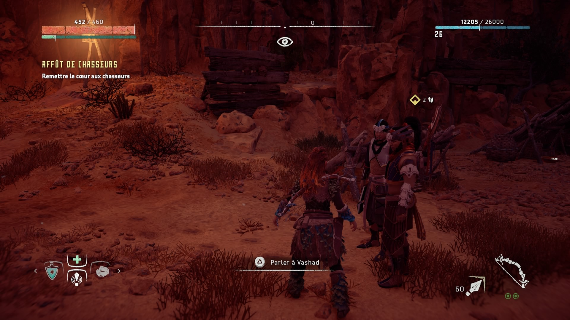 Horizon Zero Dawn Rougemors chassé avec Talanah