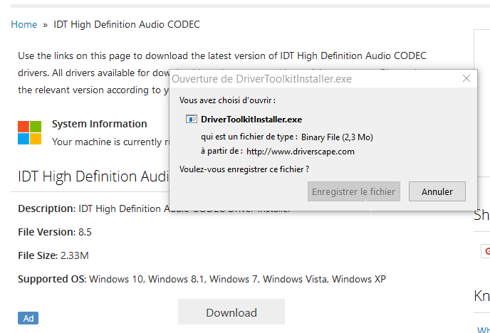IDT 10 WINDOWS GRATUITEMENT CODEC PILOTE TÉLÉCHARGER HIGH DEFINITION AUDIO