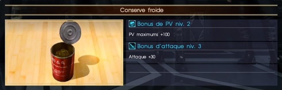Final Fantasy XV conserve froide