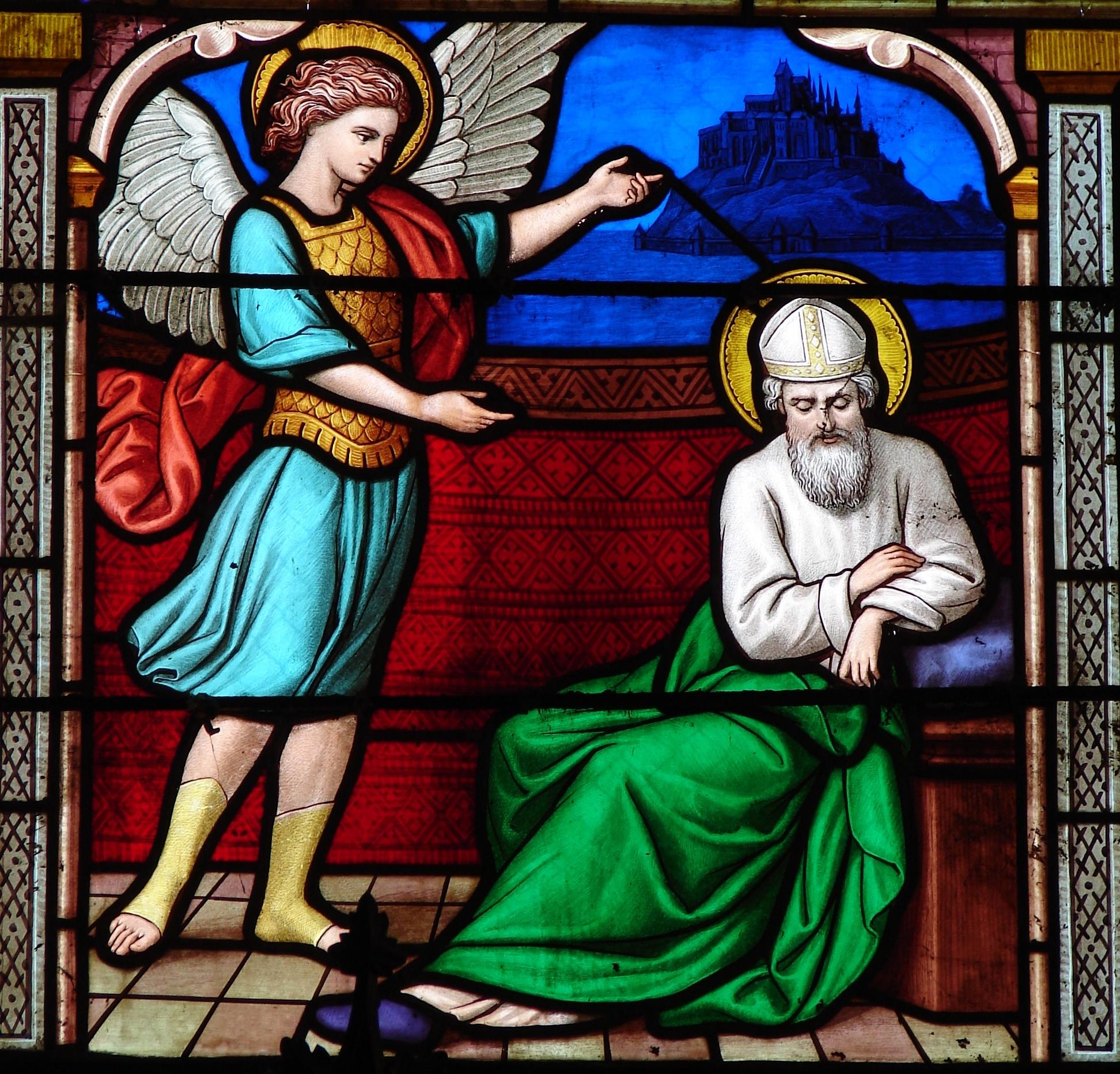 CALENDRIER CATHOLIQUE 2019 (Cantiques, Prières & Images) - Page 8 St-michel-appara-...nt-tombe-568d706