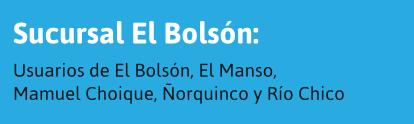 Usuarios de El Bolsón y alrededores
