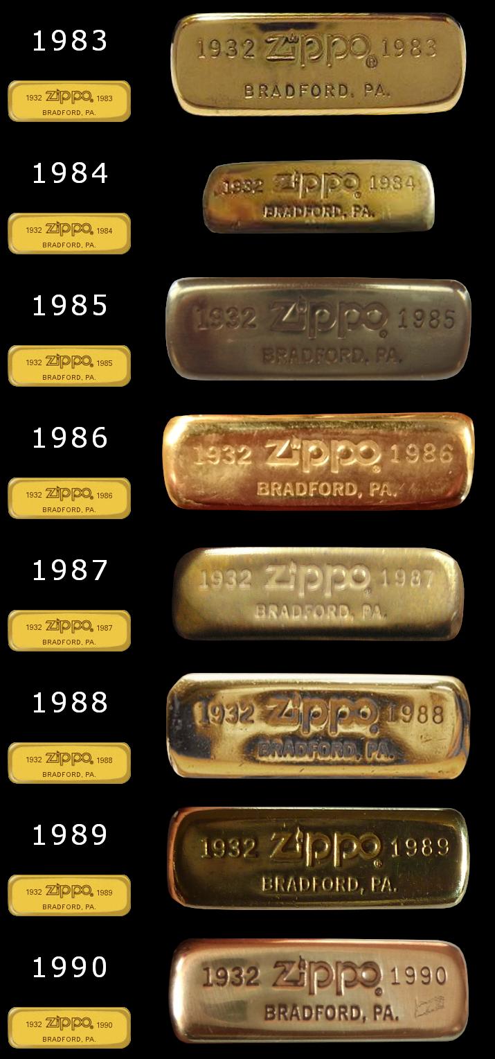 brass - [Datation] Les Zippo Solid Brass Slim-1983-1990-524d633