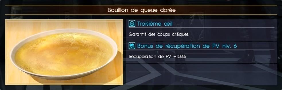 Final Fantasy XV bouillon de queue dorée