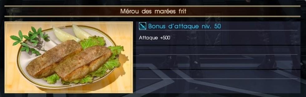 Final Fantasy XV mérou des marées frit