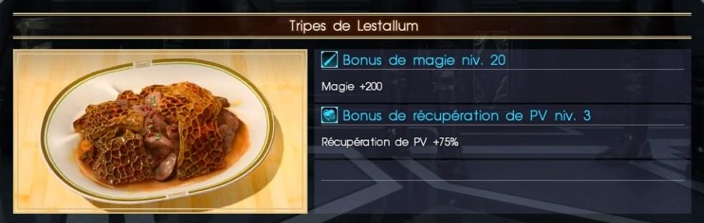 Final Fantasy XV tripes de lestallum