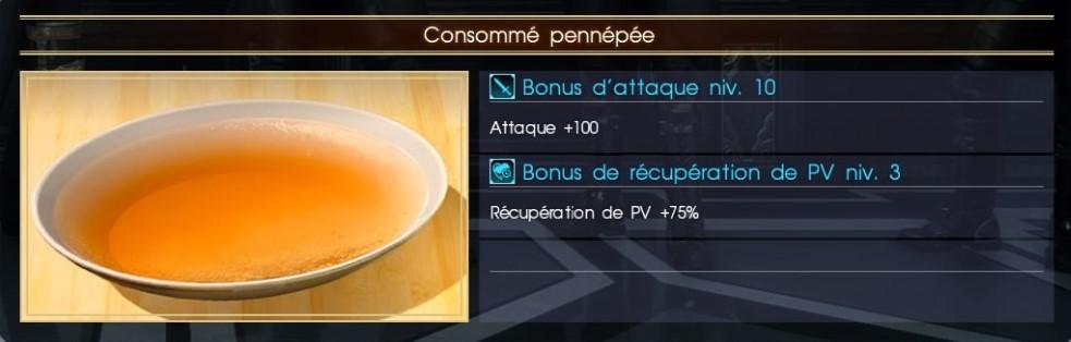 Final Fantasy XV consommé de pennépée