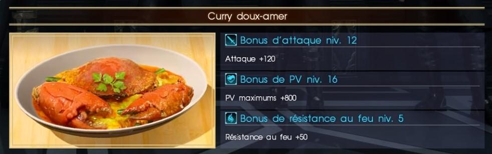 Final Fantasy XV curry doux-amer